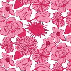 Isabella - Pink Floral on White - by Lila Tueller Designs for Riley Blake Designs