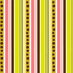 "28"" Remnant- Isabella - Green & Brown Stripe - by Lila Tueller Designs for Riley Blake Designs"