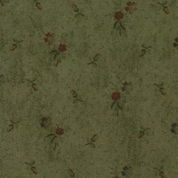 Kansas Troubles Favorites - Floral Bunches on Lush Green  - by Kansas Troubles for Moda