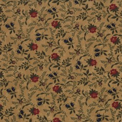 Token of Friendship - Tan Floral Scattered Blooms - by Kansas Troubles for Moda