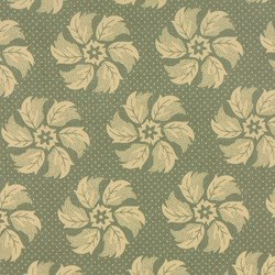 La Fete de Noel - Whirl Floral Fern - by French General for MODA