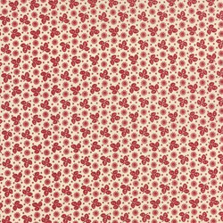 "42"" End of Bolt Piece - La Fete de Noel - Small Floral Pearl Rouge Print - by French General for MODA"