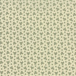 La Fete de Noel - Small Floral Pearl Verte Print - by French General for MODA