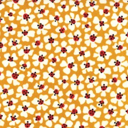 Le Petit Poulet - Floral Toss on Yellow - by American Jane for MODA
