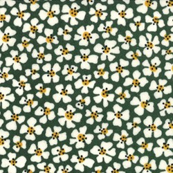 Le Petit Poulet - Floral Toss on Green - by American Jane for MODA