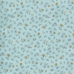 Mrs. March's Basics - Mini Floral on Blue - Lecien