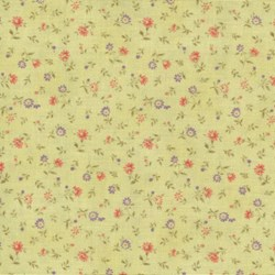 Mrs. March's Basics - Mini Floral on Yellow - Lecien