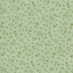 Mrs. March's Basics - Mini Floral on Green - Lecien