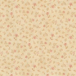 Mrs. March's Basics - Mini Floral on Peach - Lecien