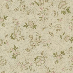 Mrs. March's Basics - Small Floral on Pale Pink - Lecien