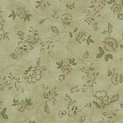 Mrs. March's Basics - Small Floral on Dark Tan - Lecien
