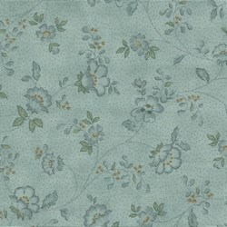 Mrs. March's Basics Fat Quarter - Small Floral on Blue - Lecien