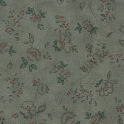 Mrs. March's Basics - Small Floral on Charcoal - Lecien