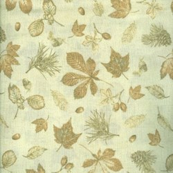 Mrs. March's Collection Fat Quarter - Autumn Forest - Medium Maple Leaves - Lecien