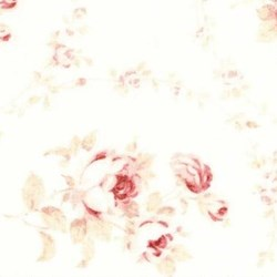 Durham Quilt Collection Anew Fat Quarter - Medium Floral on White/Cream - by Brenda Riddle for Lecien