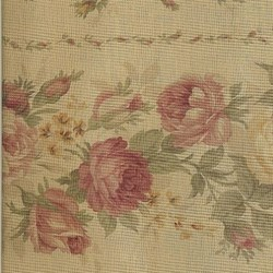 Lecien - Fancy Fabric Mustard - Floral Stripe