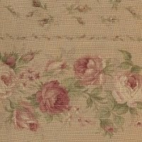 Lecien - Fancy Fabric Tan - Floral Stripe
