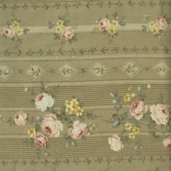 Lecien - Fancy Fabric Sage - Floral Stripe