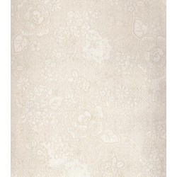 "End of Bolt - 60"" - Lecien - Hope Chest Fabric - Light Floral on Light Tan"