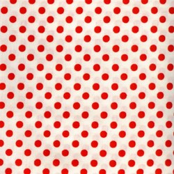 Lecien - Color Basic Fat Quarter  - Ivory with Red Dots
