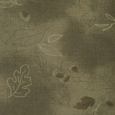 Lecien - Mrs. March Fabric Hunter Green - Acorns