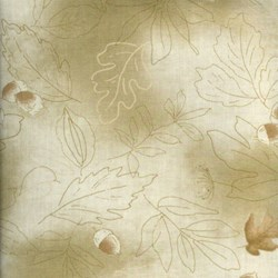 Lecien - Mrs. March Fabric Tan/Green - Acorns