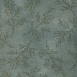 Lecien - Mrs. March Fat Quarter - Smoky Blue - Tonal Leaf