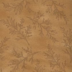 Lecien - Mrs. March Fabric - Orange - Tonal Leaf
