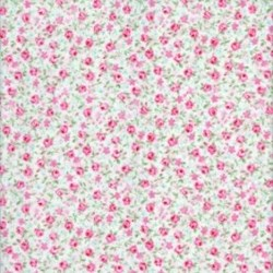 Lecien Fat Quarter - Fancy Floral Collection - Small Floral on White
