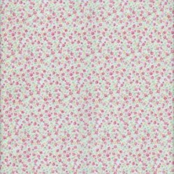 Lecien Fat Quarter - Fancy Floral Collection - Tiny Floral on Blue
