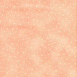 Lecien - Floral Collection - Pink with Cream Dots