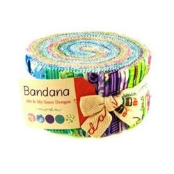 "Bandana  - Jelly Roll - 40 @ 2 1/2"" - MODA"