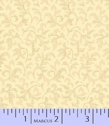 "7"" Remnant- Sachet Potpourri - Tans Small Pring Quilting Fabric ~  Marcus Brothers"
