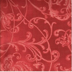"10"" Remnant - Season's Greetings - Tonal Red Swirly Vines - Maywood Studios"