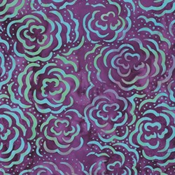 "67"" Remnant/ End of Bolt -Amethyst Purple - by Batiks by Mirah Zriya"
