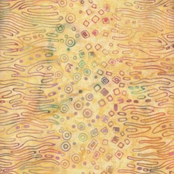 END OF BOLT- 5 Yard Piece - Princess Mirah Batiks - Banana Batik