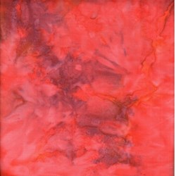 END OF BOLT - 3 Yard Piece - Princess Mirah Batiks - Orient Express - Mandarin Red Marble