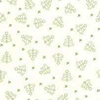 "End of Bolt - 44"" - Mistletoe Lane - White Sage Christmas Trees - by Bunny Hill Designs"