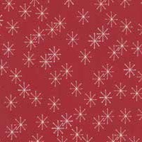 "End of Bolt - 56"" - Mistletoe Lane - Crimson Snow Flakes - by Bunny Hill Designs"