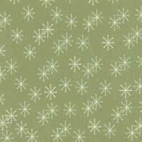 "36"" Remnant - Mistletoe Lane - Sage Snow Flakes - by Bunny Hill Designs"