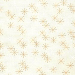 "16"" Remnant - Mistletoe Lane - White Moonlight Snow Flakes - by Bunny Hill Designs"