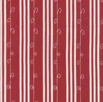"9"" Remnant - Mistletoe Lane - Crimson Stripe - by Bunny Hill Designs"