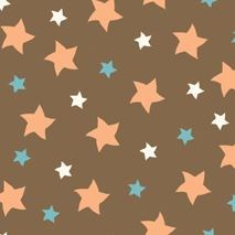 Mod-Tod Stars in Brown by Sheri Berry for Riley Blake Designs