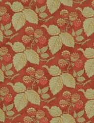 "21"" Remnant - Peace on Earth Christmas Red Raspberries Quilt Fabric - by 3 Sisters for Moda"