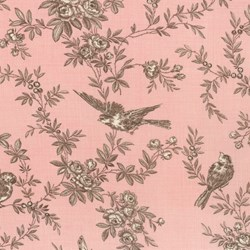 Pom Pom de Paris - Bird Garden in Salmon & Brown