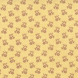 Pom Pom de Paris - Floral Grid on Yellow - by French General for MODA