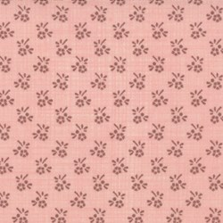 Pom Pom de Paris - Floral Grid on Salmon - by French General for MODA