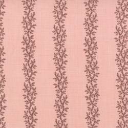 "76"" End of Bolt Piece - Pom Pom de Paris - Vine Stripe on Salmon - by French General for MODA"