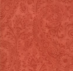 Portugal Red Tonal Paisley by April Cornell for MODA