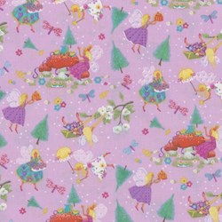 Magical Fairies on Lavendar By Kim Martin For RJR Fabrics